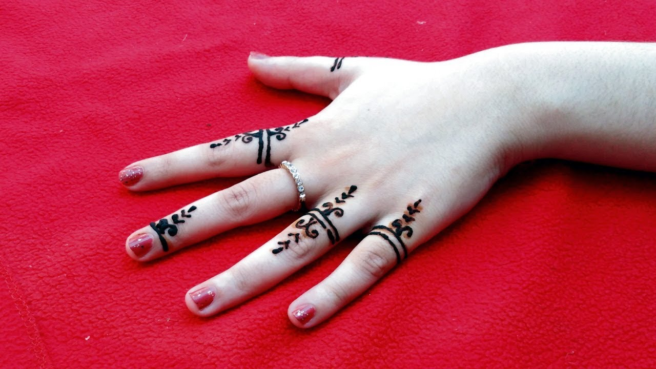Easy Finger Mehndi Design For Kids