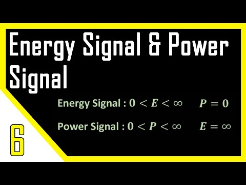 Energy Signal and Power Signal | Digital Signal Processing