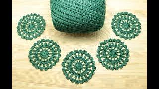 Как связать ажурный мотив КРУГ вязание крючком How to Crochet for Beginners