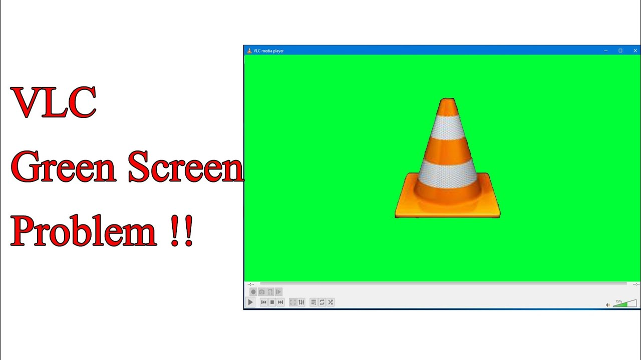 VLC Player Green Screen Problem  How To Fix [Hindi]