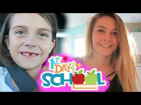 1ST DAY OF SCHOOL MORNING ROUTINE! EMMA AND ELLIE ARE BOTH VERY SCARED!