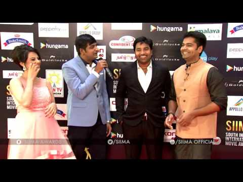 Sathish & Shiva At SIIMA 2016 - Tamil Red Carpet