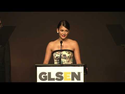 Matt Nadel and Nina Debrov present Target, Rick Gomez with Champion Award   GLSEN Respect Awards 201