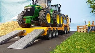Best of Bruder Toys Heavy Haulage! Trucks, Low loaders, Tractors, Excavators!