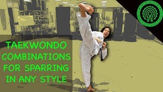 Taekwondo Sparring Combinations for any Style of Fighting Tutorial