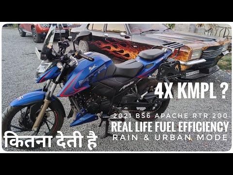 2021 BS6 TVS APACHE RTR 200 4V | Real Life Fuel Efficiency | Rain Urban Mode Mileage | DNA VLOGS
