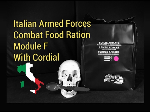 Italian MRE (With Liquor!): RARE Combat Food Ration Module F Tasting - Including Cordial