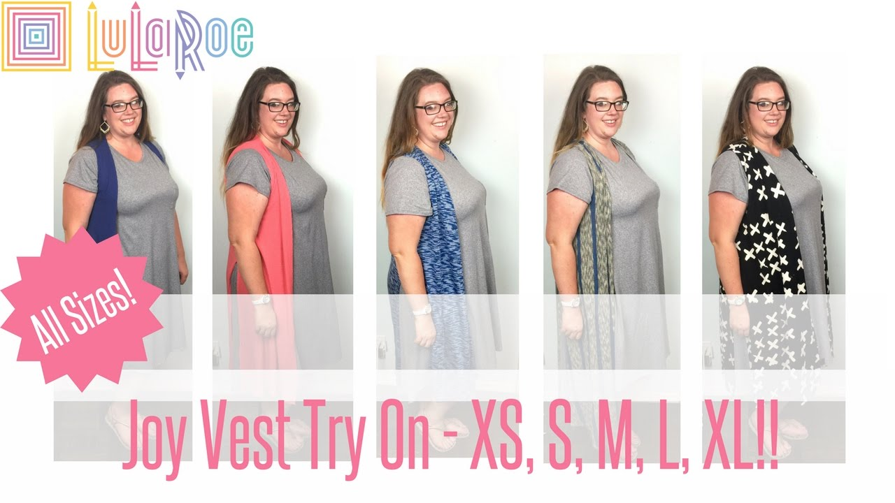 58f959464 LuLaRoe Joy Vest Fit and Sizing - Try on of ALL SIZES!!! - YouTube