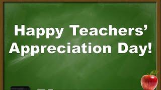 Teachers' appreciation day poem: thank you teachers!