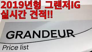 2019년형 그랜저(GRANDEUR)IG 실시간 견적!!1부!!