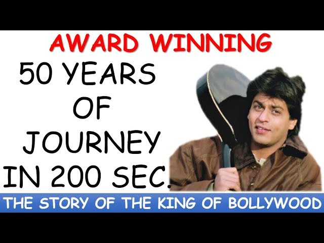 Shahrukh Khan Bollywood Journey I BEST ART EVER