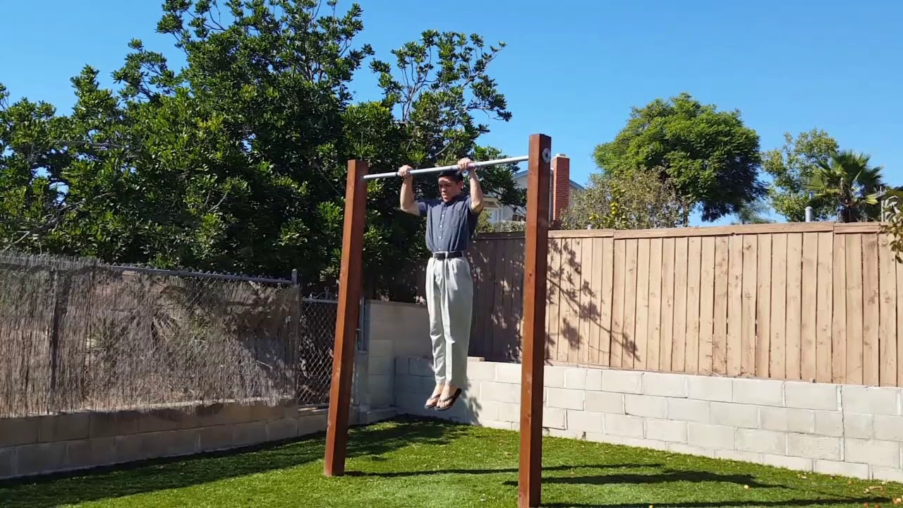 26 clean muscle ups to 5 bar dips to 5 deadstop pull ups behind