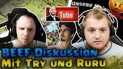 🥩😡 BEEF-DISKUSSION MIT TRYMACS & RUMATHRA?! Eigene Meinung über YouTuber | CoC Talk