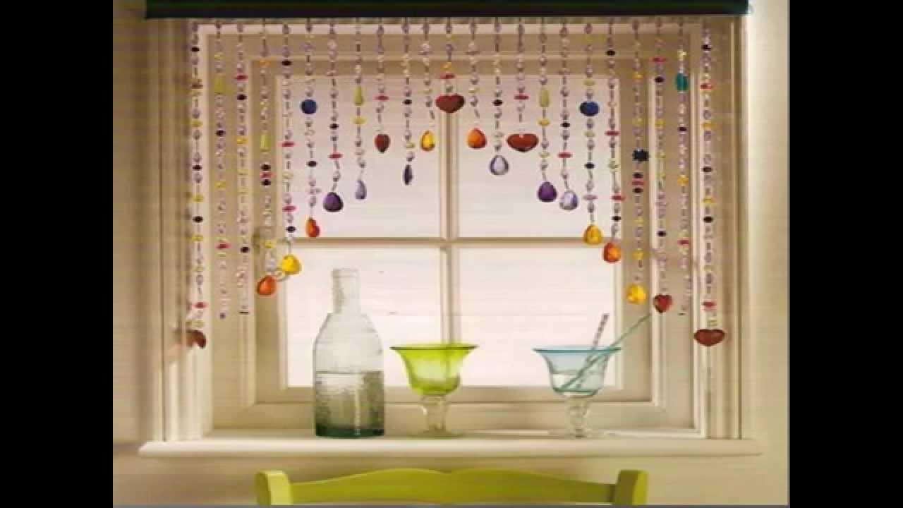 طريقة عمل ستارة خرز للمطبخ اجمل افكار لتزيين المطبخ Youtube Door Hanging Curtains Kitchen Curtains