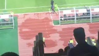 خروج أحمد الشناوي حارس بيراميدز مصابا أمام الأهلي