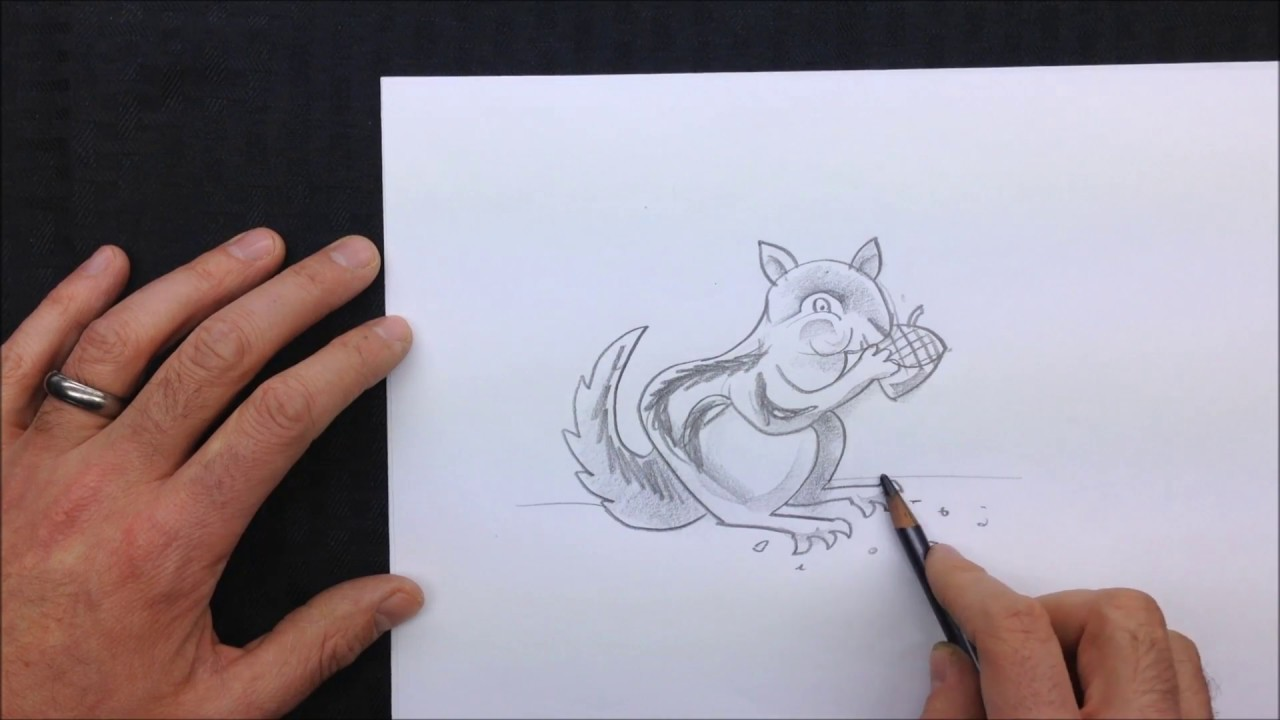 kids how to draw a chipmunk