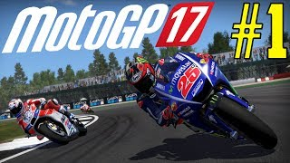 MotoGP 2017 Game Career Mode - PART 1 FIRST RACE DRAMA!