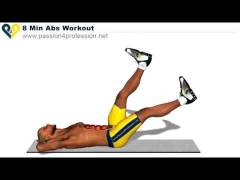 Tám phút tập cơ bụng cực hiệu quả...Very effectively 8 minutes abs