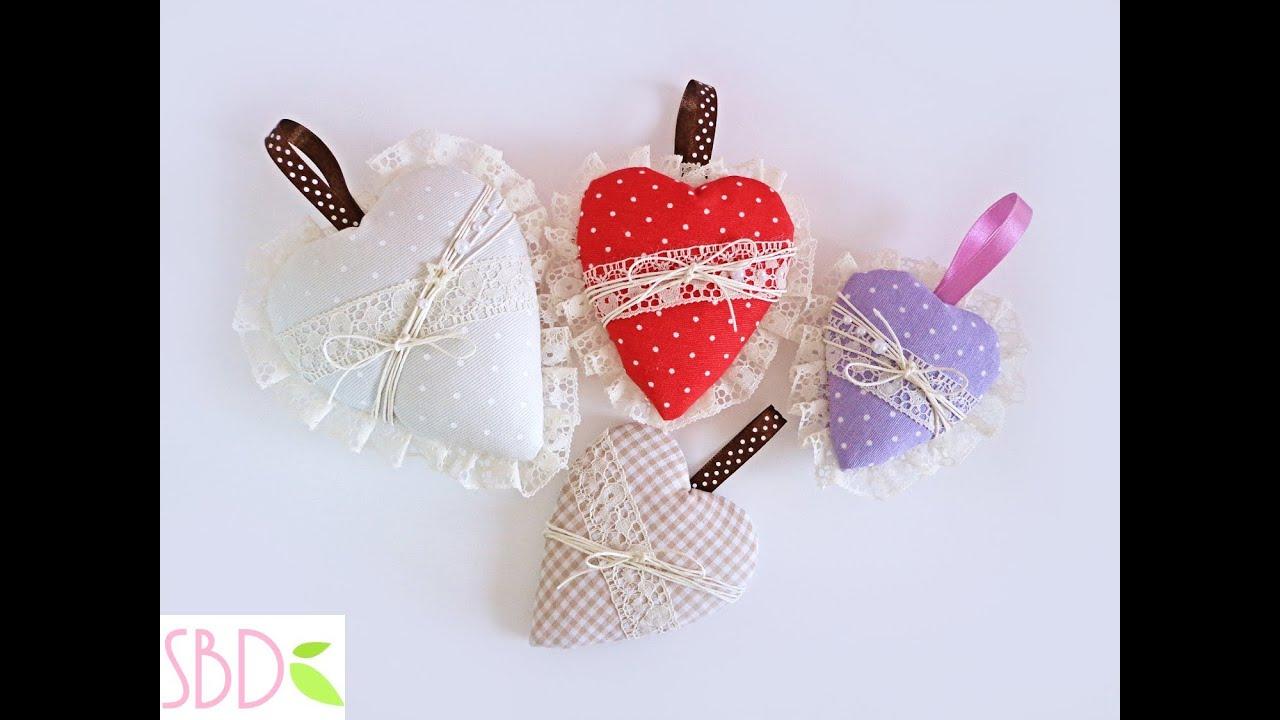 Cuori di stoffa imbottiti senza cucire fabric hearts no for Cucito creativo youtube