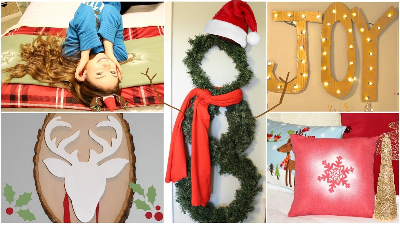 Holiday Bedroom Decorating Ideas Part - 45: 9 DIY Holiday/Winter Room Decorations + Gift Ideas! - YouTube