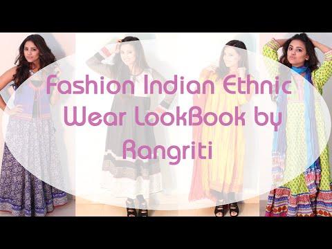 Fashion Indian Ethnic Wear LookBook by Rangriti