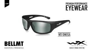 c2c06f467f2 Wiley X Omega Pol Green Platinum Flash Matte Black Frame ...