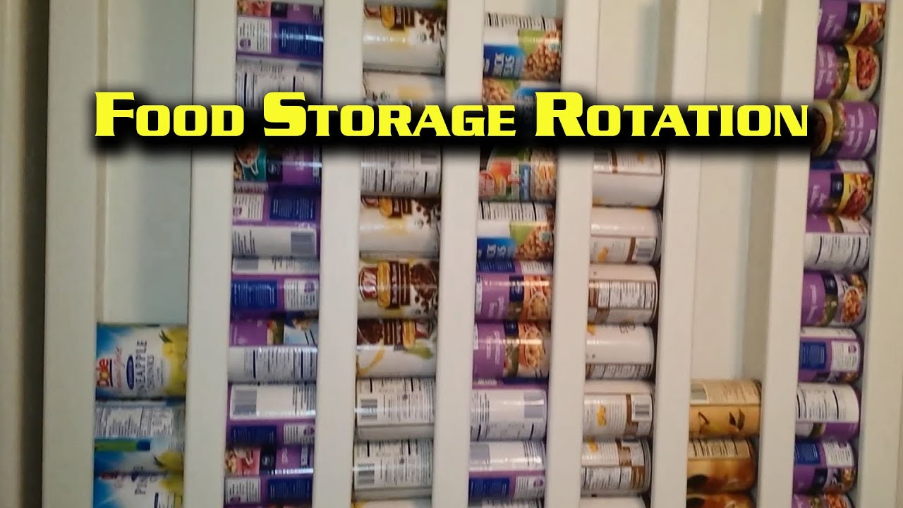 Canned Food Storage Rotator Wall Mount Youtube