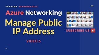 Manage Public IP & Private IP Address | Create, Manage, Reserve, Address | Azure Networking | V 6