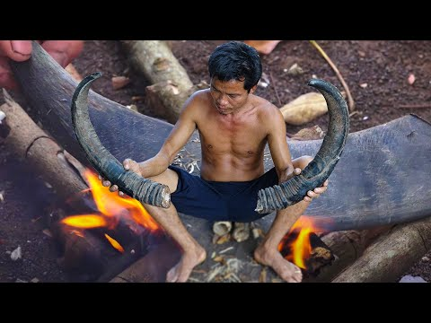 Primitive Culture: Knife Making from Buffalo Horn
