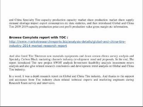 Global and China Tire Industry 2014 Market Research Report pdf
