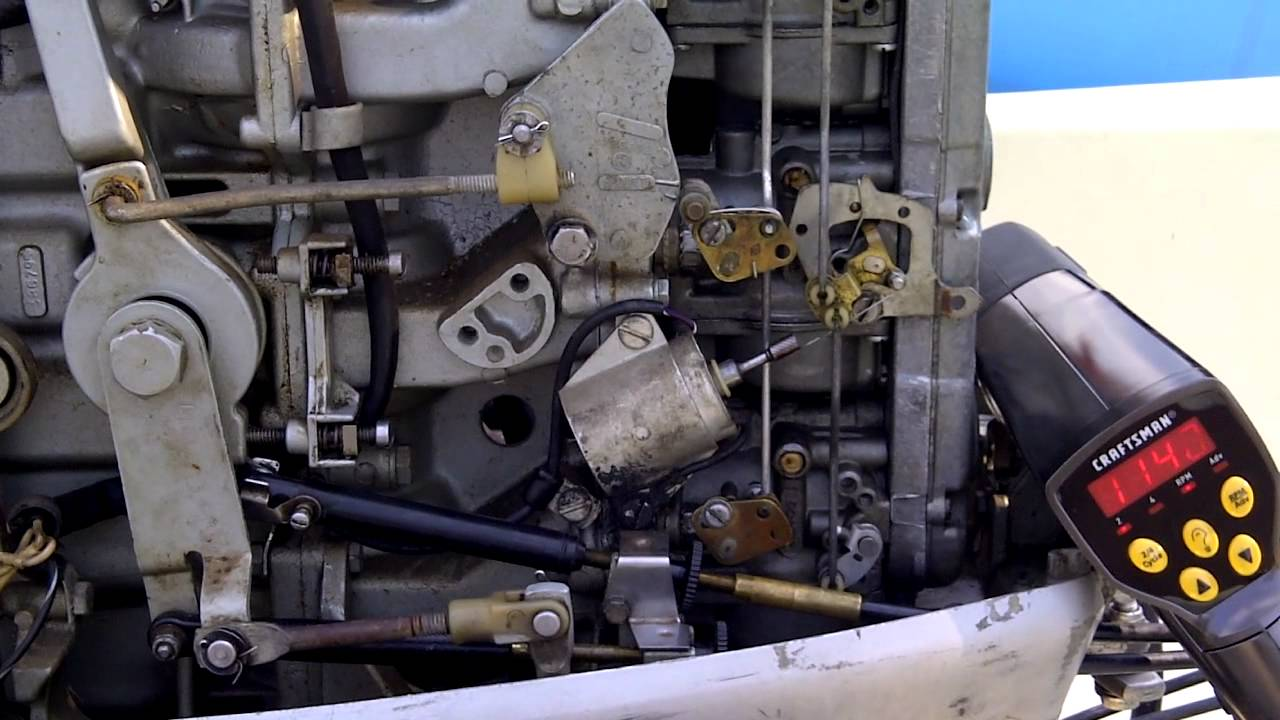 Force Outboard Ignition Wiring Diagram 76 75hp Evinrude High Idle Youtube