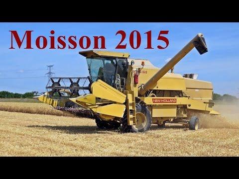 Moisson 2015 avec une New Holland 8050