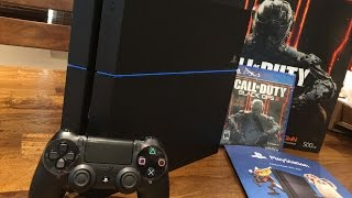 Sony Playstation 4 (PS4) Unboxing: Black Ops 3 Bundle in 4K(PS4 Black Ops 3 Bundle Unboxing Get it here Amazon: http://amzn.to/1qeSx1h Make sure you guys get the CUH-1215 version of the PS4! Don't settle for the ..., 2016-02-22T08:00:00.000Z)