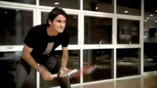 Roger Federer Tennis Battle in His House