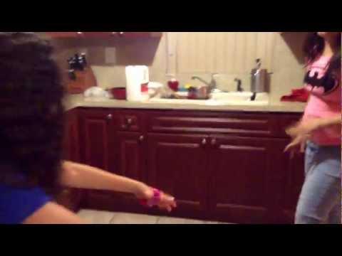 Sarah and Izzie fighting 😂