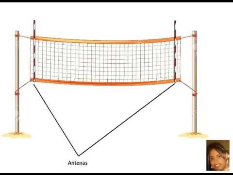 red de voleibol con sus medidas