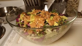 Crunchy Cabbage Salad With Spicy Peanut Dressing - Vegetarian