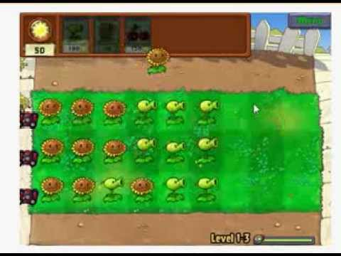 Game trồng cây bắn ma - Level 1 - 3