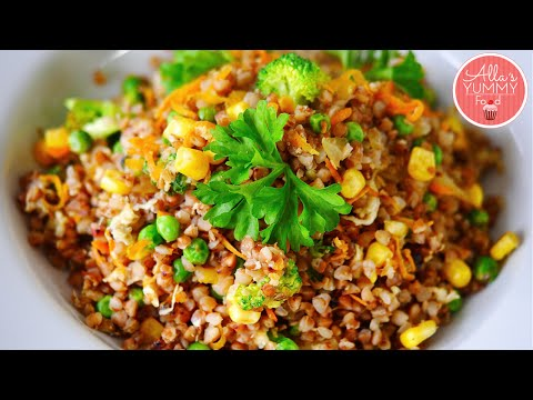 How to cook Buckwheat - Vegetable Stir Fry - Russian Food - Жареная гречка