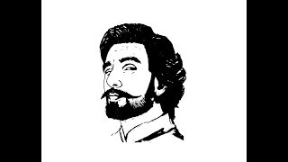 How to Draw Ranveer Singh face pencil drawing step by step