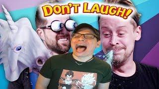 Try Not To Laugh Challenge #31 w/ Macaulay Culkin | Dan Ex Machina Reacts
