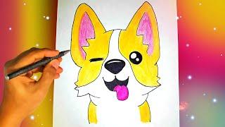 как нарисовать милую СОБАКУ? Лёгкие рисунки для детей и начинающих