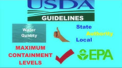 What are USDA loan water test requirements for a private well?