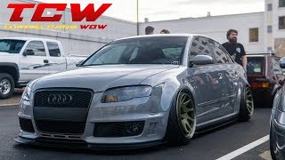 Audi RS4 Bagged on Rotiform Wheels Project by Nick