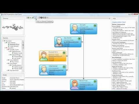 Organization Chart Demo [yFiles WPF] - YouTube