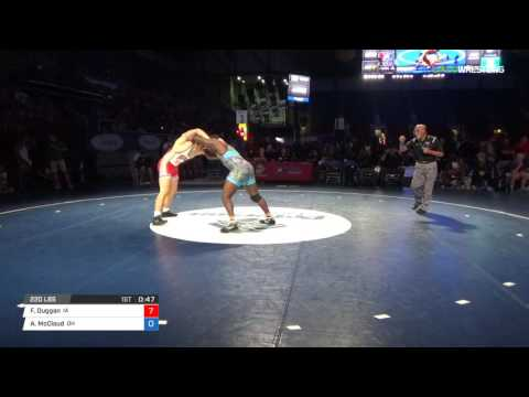 Junior FS 220 3rd Place - Francis Duggan (IA) vs. Antonio McCloud (OH)