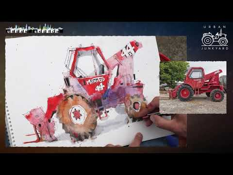Time-lapse of Ian Fennelly's Red Loader Sketch