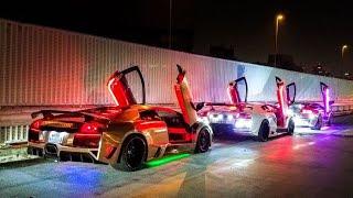 Lamborghini run up in japan , insane LED😱 | dj story' wa