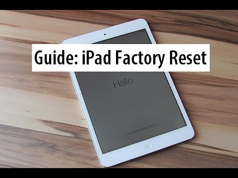 Guide Hard Reset Ipad To Factory Settings How To Wipe