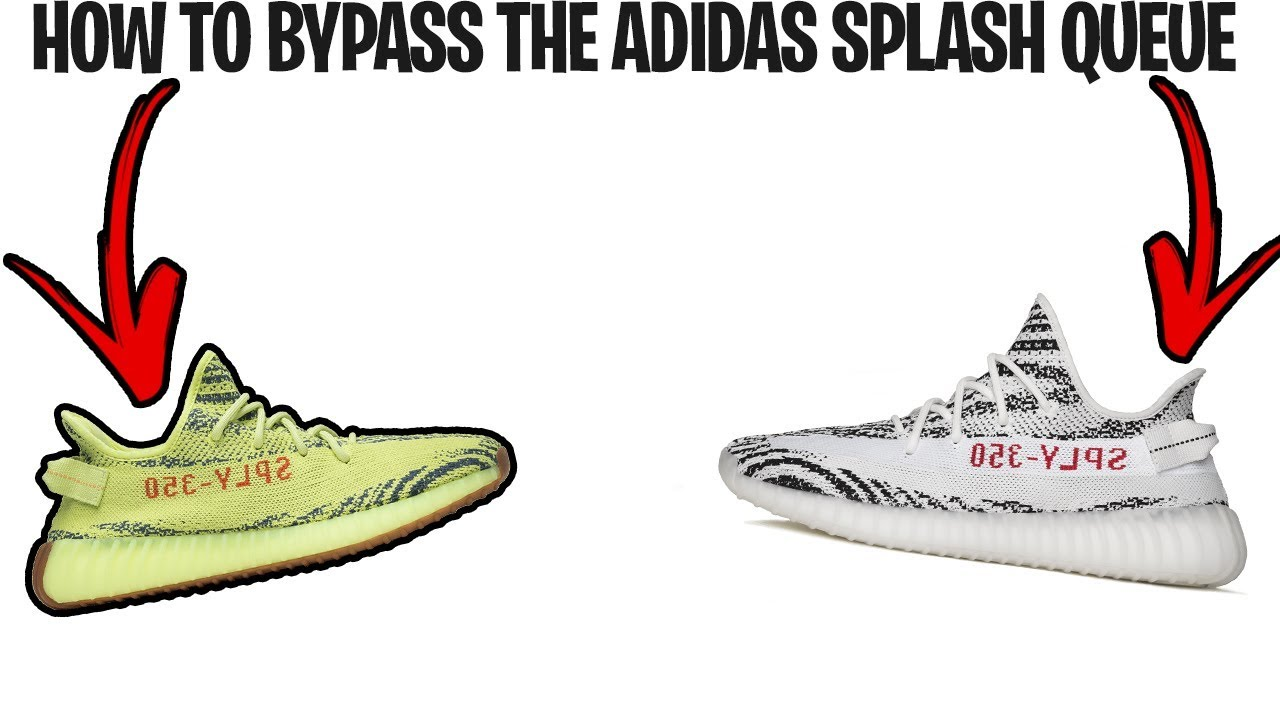 adidas splash page bypass heated sneaks